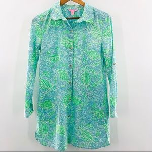 Lilly Pulitzer Natalie Shirt-Dress Cover Up | S